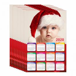 5 CALENDÁRIOS 2020 PERSONALIZADO REVELAÇÃO FOTOGRÁFICA 200x300mm 4X0
