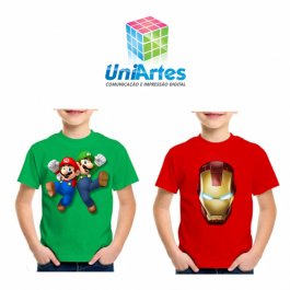 CAMISETA  INFANTIL COLORIDA