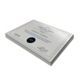 Certificados Perolizado 250g 210x297mm 4x0