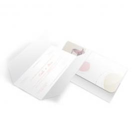 CONVITE CLÁSSICO 02 Envelope Aspen Perolizado 100x148mm  Sem Verniz Corte e Vinco Padrão