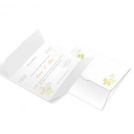 CONVITE CLÁSSICO 05 Envelope Couchê 250g 132x175mm  Sem Verniz Corte e Vinco Padrão