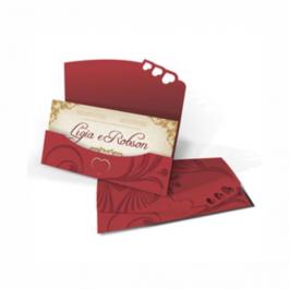 CONVITE ESPECIAL 01 Envelope Color Plus Estampado Pequim 180g - Lâmina Couchê 250g 130x230mm  Sem Verniz Corte e Vinco Padrão