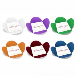 CONVITE ESPECIAL 07 Envelope Color Plus 180g - Lâmina Couchê 250g 148x148mm  Sem Verniz Corte e Vinco Padrão