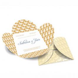 CONVITE ESPECIAL 08 Envelope Aspen Perolizado 180g 148x148mm  Sem Verniz Corte e Vinco Padrão
