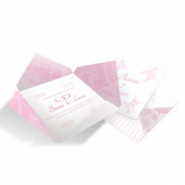 CONVITE MODERNO  02 Envelope Aspen Perolizado 180g 182x182mm  Sem Verniz Corte e Vinco Padrão