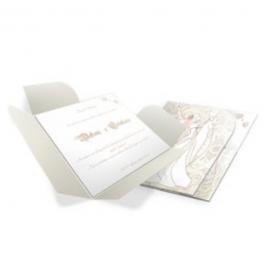 CONVITE MODERNO  04 Envelope Aspen Perolizado 180g 146x150mm  Sem Verniz Corte e Vinco Padrão