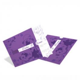 CONVITE ROMÂNTICO  02 Envelope Color Plus Amsterdan 180g - Lâmina Couchê 250g 193x193mm 4X0 Sem Verniz Corte e Vinco Padrão