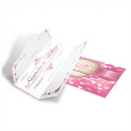 CONVITE ROMÂNTICO  03 Envelope Aspen Perolizado 180g 110x210mm 4X4 Sem Verniz Corte e Vinco Padrão
