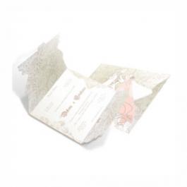 CONVITE ROMÂNTICO  05 Envelope Aspen Perolizado 180g 185x419mm 4X4 Sem Verniz Corte e Vinco Padrão