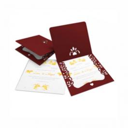 CONVITE ROMÂNTICO  07 Envelope Color Plus Pequim - Lâmina Interna Diamond 180g 240x215mm  Sem Verniz Corte e Vinco Padrão
