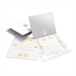 CONVITE ROMÂNTICO  07 Envelope Diamond Telado 180g - Lâmina Diamond Telado 180g 240x215mm  Sem Verniz Corte e Vinco Padrão