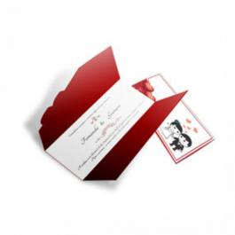 CONVITE ROMÂNTICO  08 Envelope Aspen Perolizado 180g 110x210mm  Sem Verniz Corte e Vinco Padrão