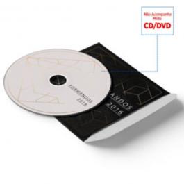 Envelope CD e DVD Couché Brilho 250g 125x125mm  Verniz Total Brilho Frente Faca Padrão
