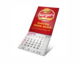 ÍMÃ DE GELADEIRA TOTAL Manta Magnética 0.3mm 40x50mm 4X0 Verniz UV Total Brilho Frente Corte Reto Bloco Calendário  2020