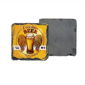 Porta-copo de Pedra Quadrado Personalizado 10cm - C 2655 Pedra 10x10cm