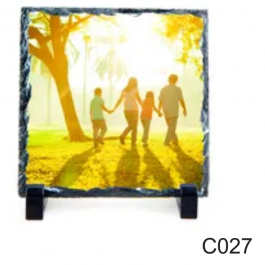 Porta Retrato de Pedra  15X15cm -C027  15X15