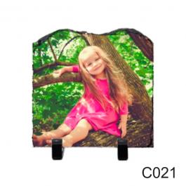 Porta Retrato de Pedra 15x15cm - C021  15X15