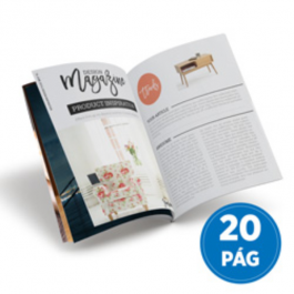 Revistas 20 Páginas Couché Brilho 90g 100x140mm 4X4  Grampo Canoa