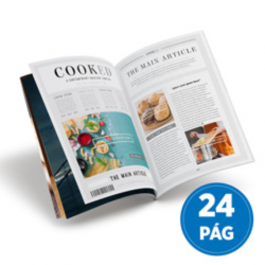 Revistas 24 Páginas Couché Brilho 90g 100x140mm 4X4  Grampo Canoa